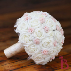 cream and blush pink wedding bouquet bridal bookay
