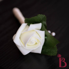 cream wedding rosebud boutonniere or prom boutonniere ivory rose