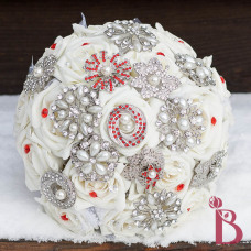 pearl wedding bouquet brooch and pins
