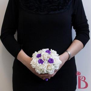 silk wedding bouquet seashell beach flower girl mini size