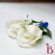 real touch rose bud boutonniere prom wedding with crystals real feel