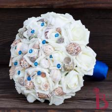 horizon blue wedding bouquet for beach weddings