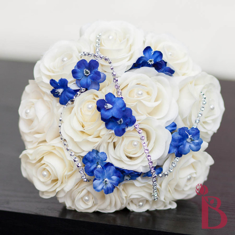 Cinderella Inspired Light Blue Cream Real Touch Bouquet