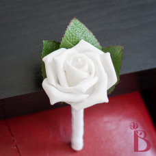 wedding boutonniere idea white rose boutonniere for groom