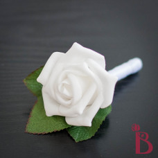 simple white wedding boutonniere prom boutonniere white rose