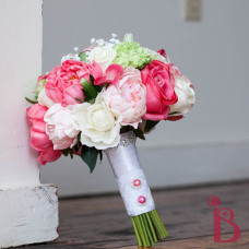 real touch peonies roses calla lilies wedding bouquet