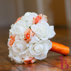 real touch rose wedding bouquet natural touch