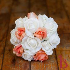 real touch orange cream bridesmaid wedding bouquet