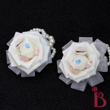 seashell corsages for mother of the bride wedding or prom wrist corsage