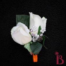 white rose bud wedding boutonniere real touch buds natural touch