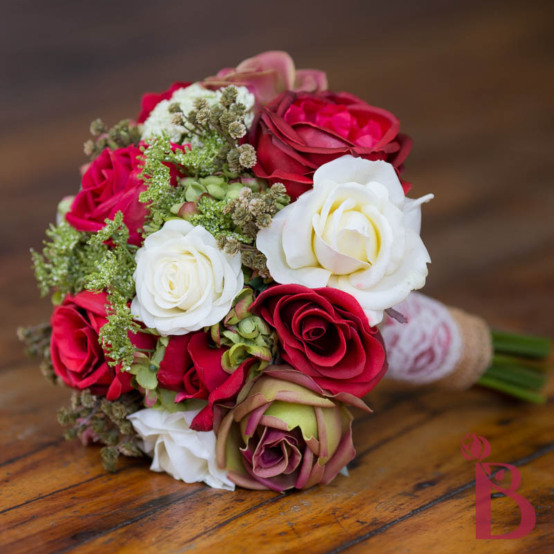 Red And Ivory Wedding Bouquets