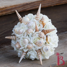 sand color beige and cream seashell bouquet