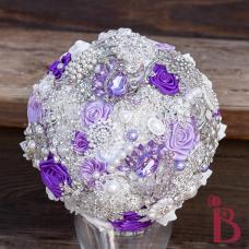 purple light lavender brooch bouquet silver lavender broaches handmade custom bouquet