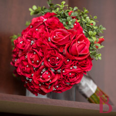 red rose bouquet real touch wedding flowers artificial realtouch