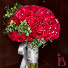red and gray wedding bouquet realtouch feel red riding hood bouquet