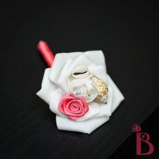 coral seashell boutonniere for wedding or prom beach weddings