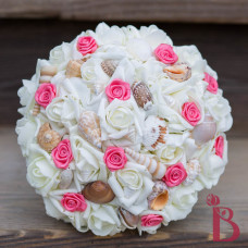 seashell coral bouquet for weddings beach wedding