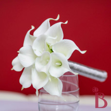 white calla lily wedding bouquet real touch silk flowers