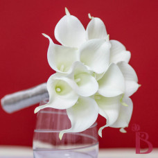 silk wedding bouquet calla lily real natural touch white