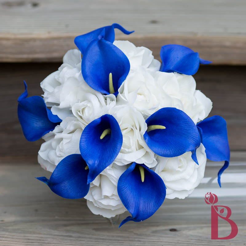 Silk Wedding Flowers In Maryland : Calla lilies roses bouquet md more colors the bridal