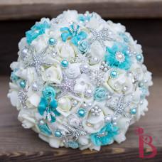tiffany aqua blue wedding beach bouquet cruise ship destination wedding