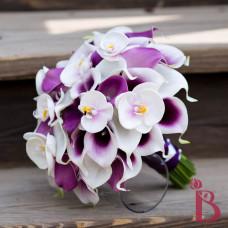 picasso purple calla lily bouquet orchids natural