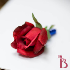 red rose boutonniere wedding real touch rose bud