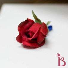 red rose wedding boutonniere real touch feel rose bud