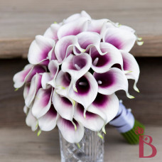real touch calla wedding bouquet lilies light