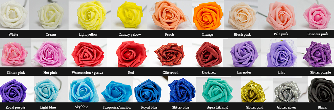 rose color chart soft touch