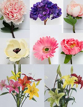 real touch flower chart