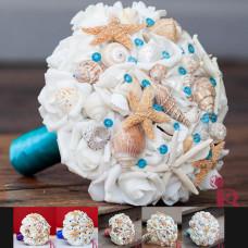 malibu seashell beach bouquet starfish shells