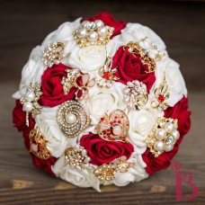 wedding brooch bouquet quality made red gold broaches