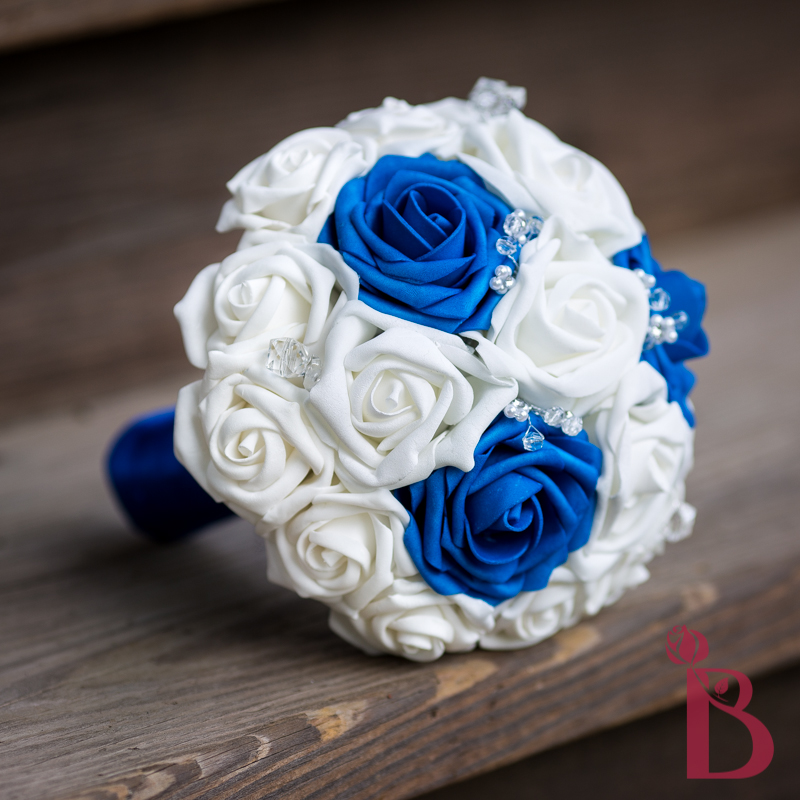 Blue And White Silk Wedding Bouquets : Royal blue and white silk wedding bouquets the best
