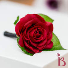 red black wedding boutonniere prom