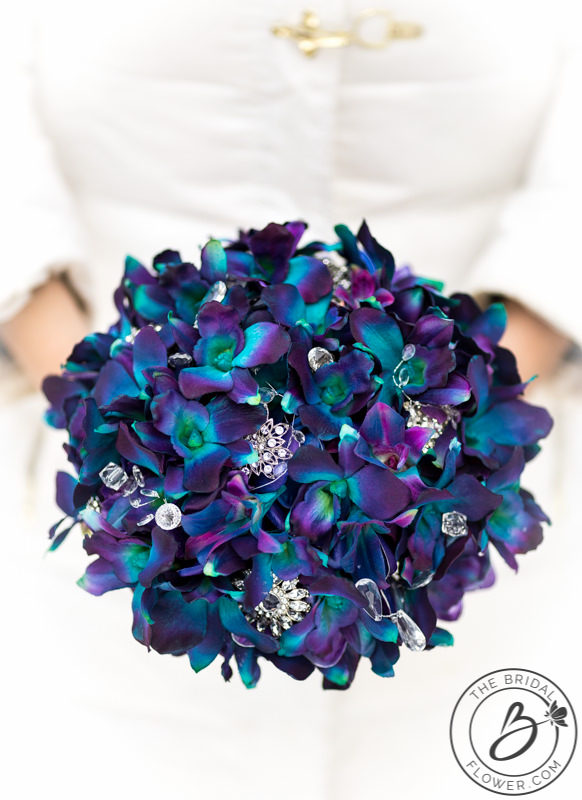 This Beautiful Bouquet Was Created For A Local Vermont Bride Angi Who Fell In Love With Purple Blue Galaxy Dendrobium Orchids But Wanted To Keep Her