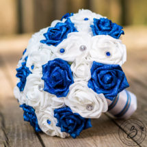 Royal blue and white wedding bouquet with glitter roses the bridal royal blue and white wedding bouquet with glitter roses mightylinksfo