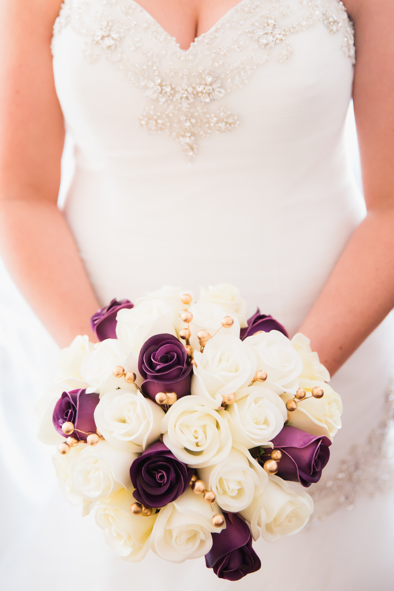 Ivory And Gold Real Touch Wedding Bouquet The Bridal Flower Silk