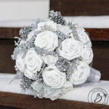 White and silver winter wonderland wedding bouquet the bridal white and silver winter wonderland wedding bouquet mightylinksfo
