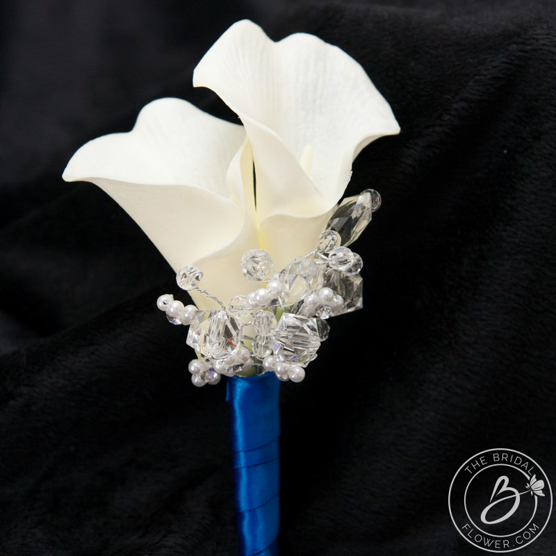 double calla lily boutonniere for wedding or prom  more