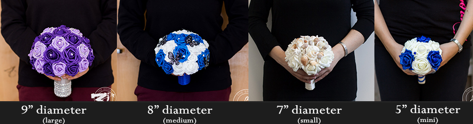 Bouquet Sizes The Bridal Flower Silk And Real Touch