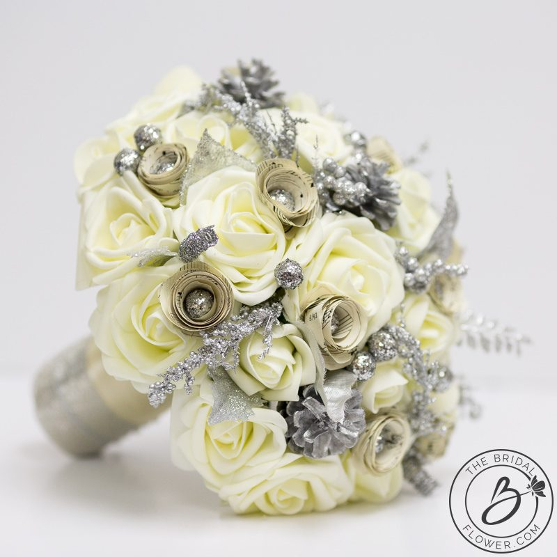 Winter Wonderland Bouquet With Music Sheet Roses The Bridal