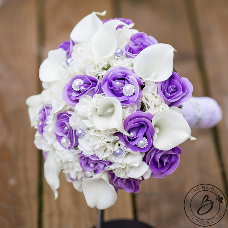 flower wedding centerpieces lavender and white hydrangea real touch bouquet the 4229