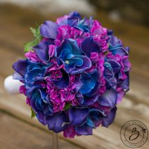 Purple And Blue Hydrangea Galaxy Orchid Bouquet