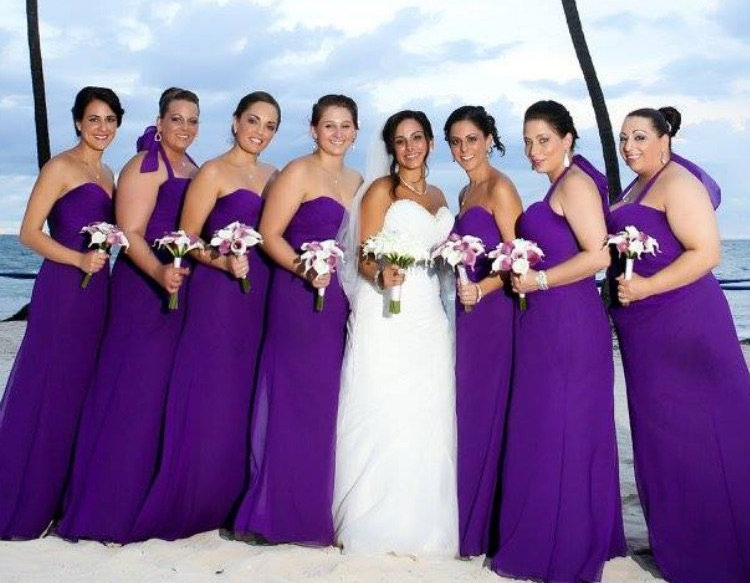 White And Purple Calla Lily Bouquet At A Beach Wedding The